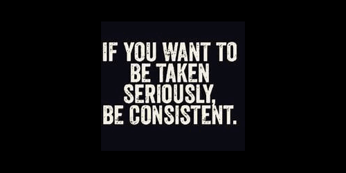 Be Taken Seriously Consistent