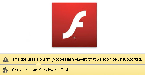 Flash Unsupported
