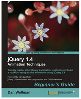 jQuery 1.4 Animation Techniques Book Cover