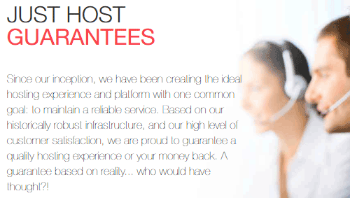 Just Host Guarantees