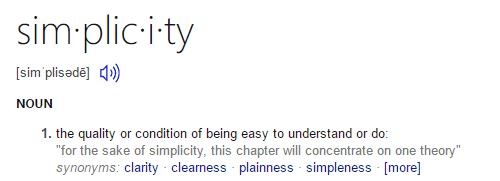 Simplicity Definition