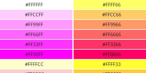 Web Safe Colors