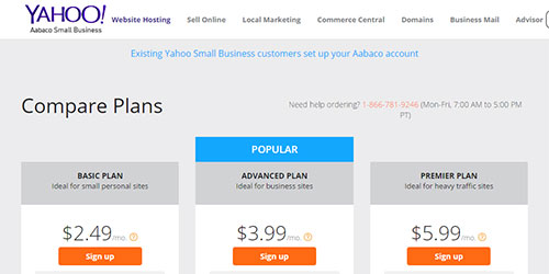 Yahoo Web Hosting Review